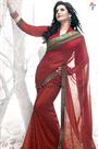 Traditional Indian Saree Fashion Models